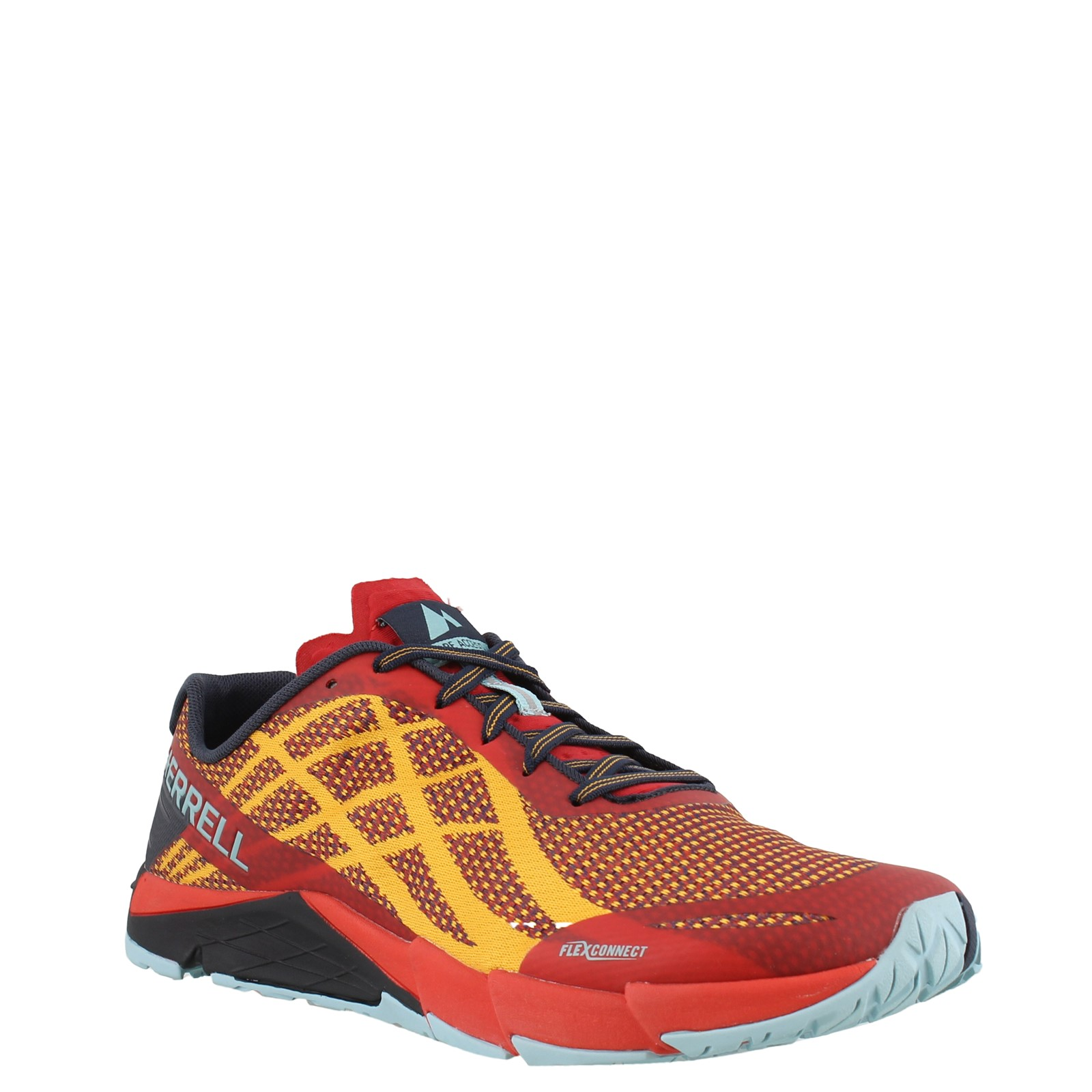 Merrell Mens Bare Access Flex Trail Running Shoes Trainers Sneakers Red Yellow