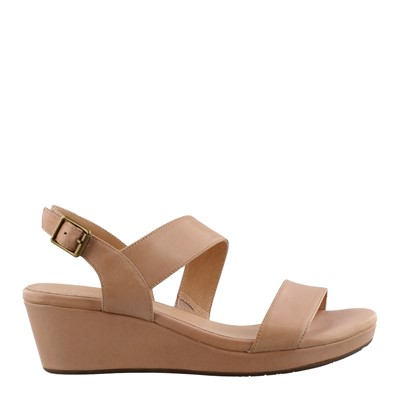 Women's Chocolate Blu, Yazmin Mid Heel Wedge Sandals