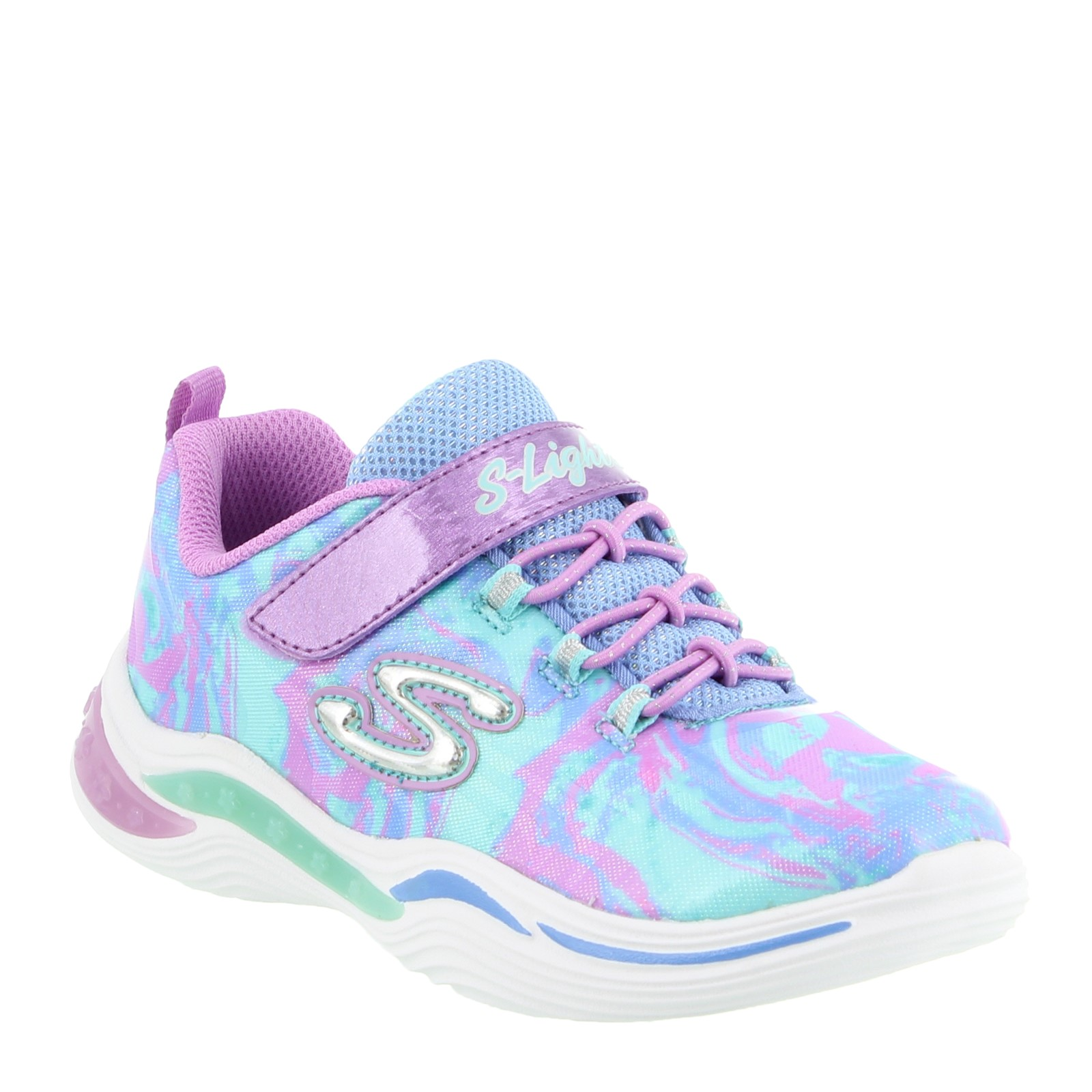Girl's Skechers, S Lights Power Petals - Flowerspark - Little Kid & Big Kid