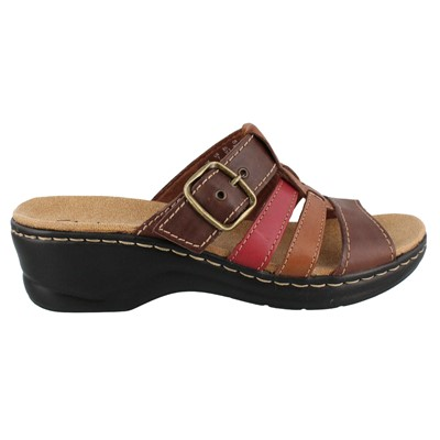 Women's Clarks, Lexi Alloy Slide Sandals
