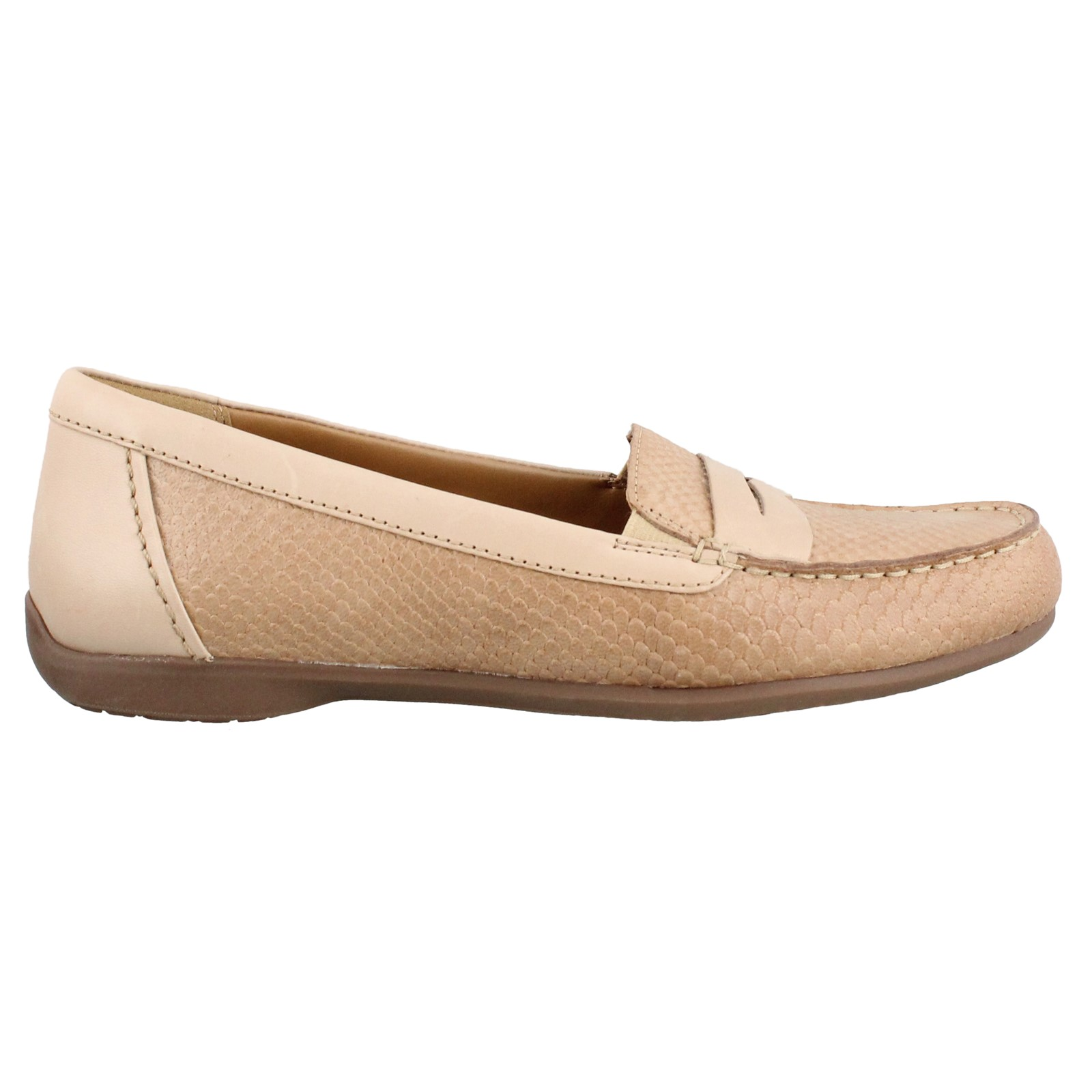 Women's Clarks, Branna Henna Slip on Penny Loafer