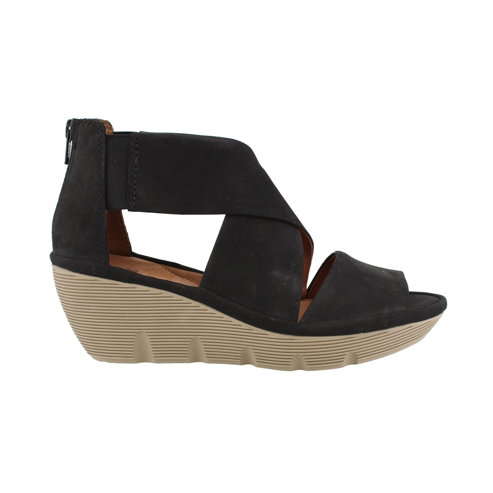 Women's Clarks, Clarene Glamor Mid Wedge Sandals