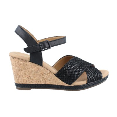 Women's Clarks, Helio Latitude High Heel Wedge Sandal