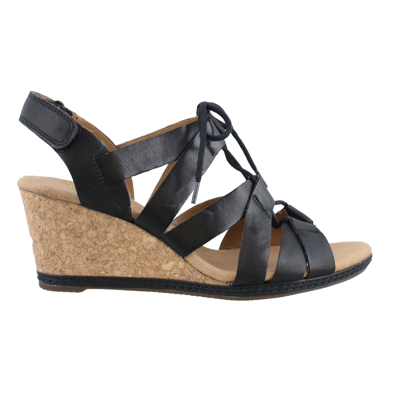 Women's Clarks, Helio Mindin High Heel Wedge Sandals
