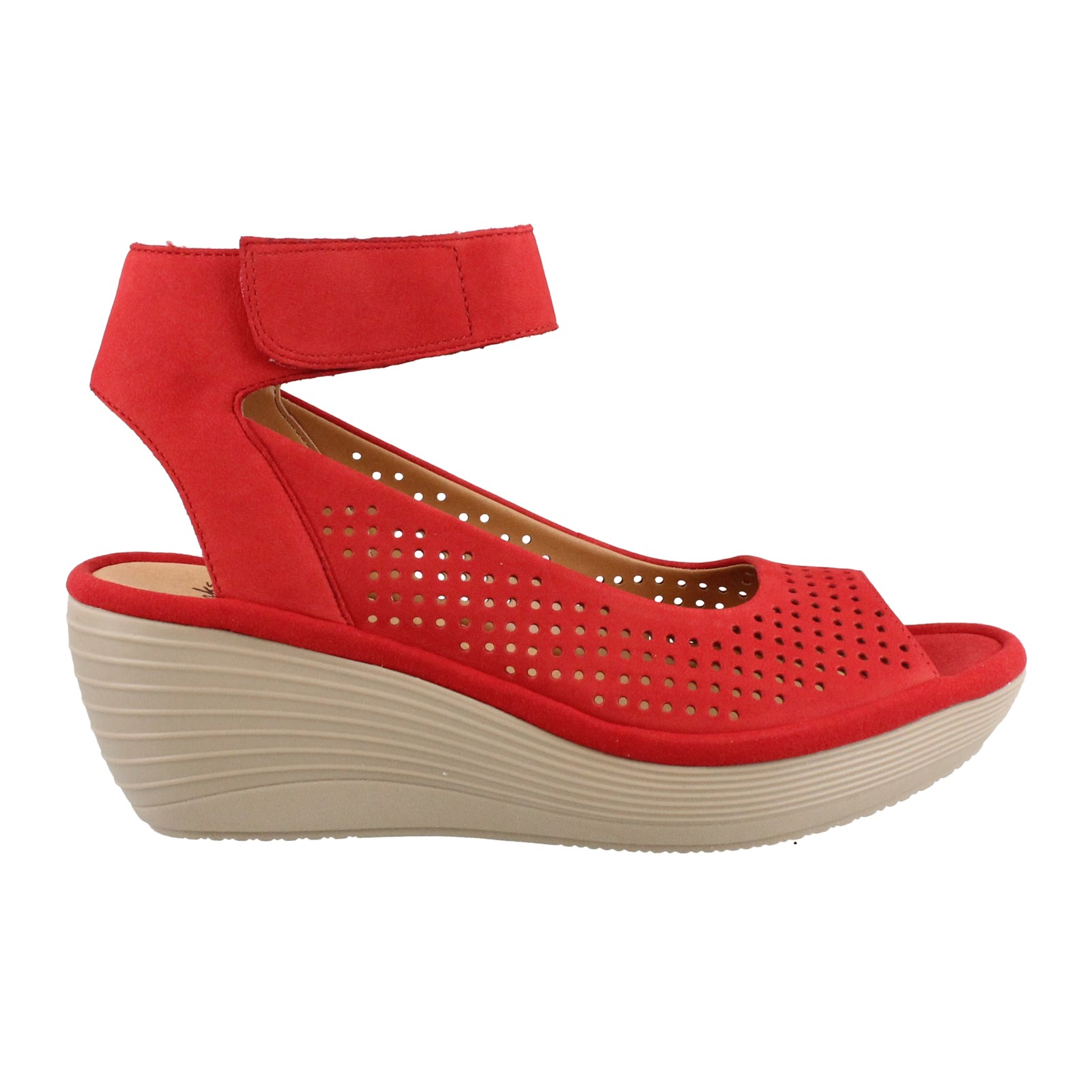 e2e0e8ef6e Home; Women's Clarks, Reedly Salene Mid Wedge Sandals. Previous. default  view ...