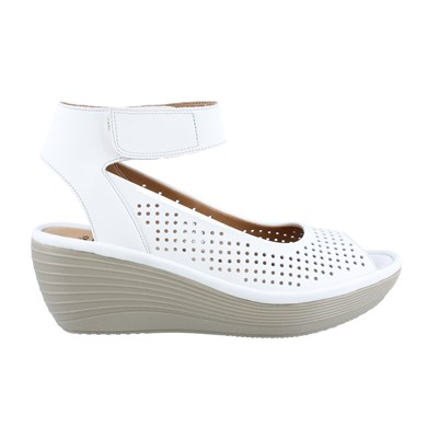 Women's Clarks, Reedly Salene Mid Wedge Sandals