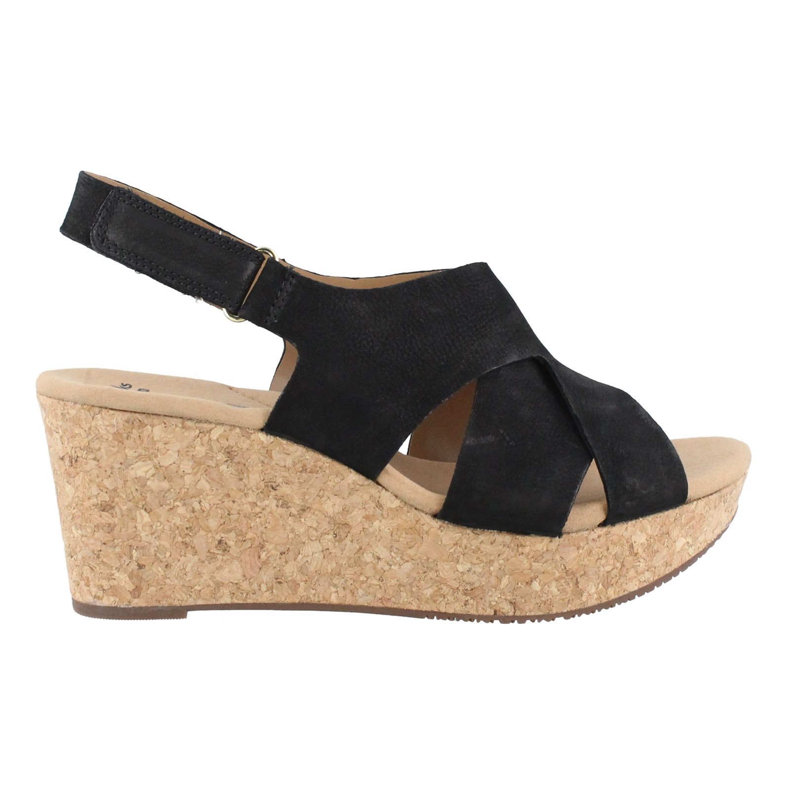 Women's Clarks, Annadel Fareda Mid Heel Wedge Sandals