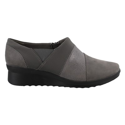 Women's Clarks, Caddell Denali Slip-On Wedge