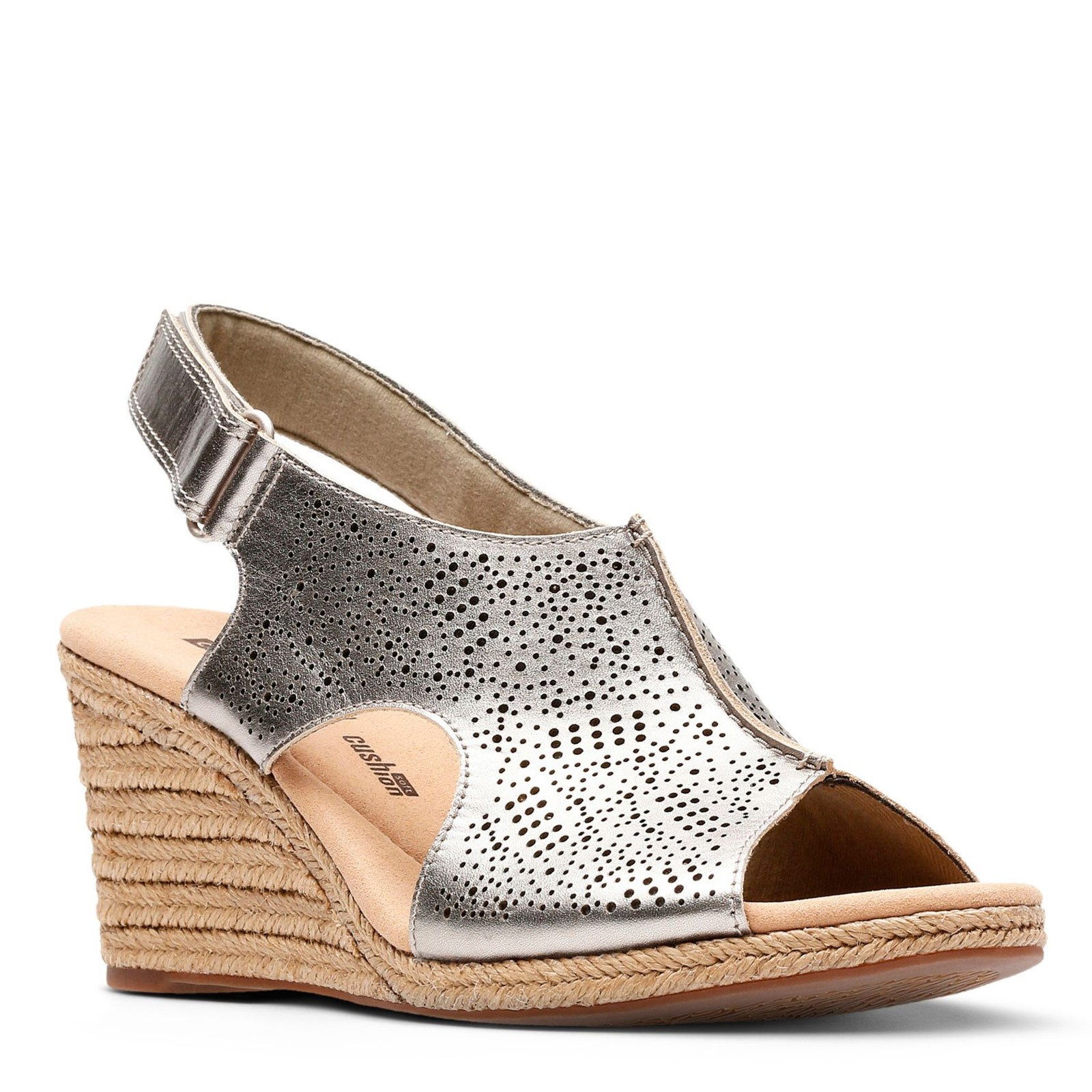 259425bfad Home; Women's Clarks, Lafley Rosen Wedge Sandals. Previous. default view ...